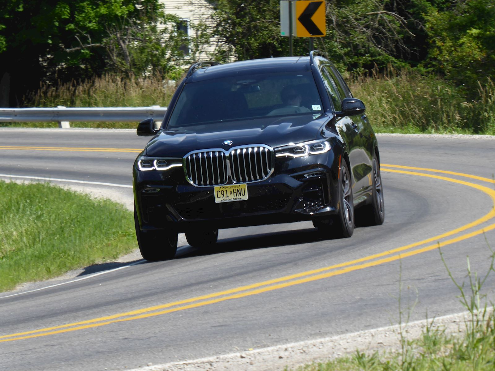 2019 BMW X7 driving on the road photo