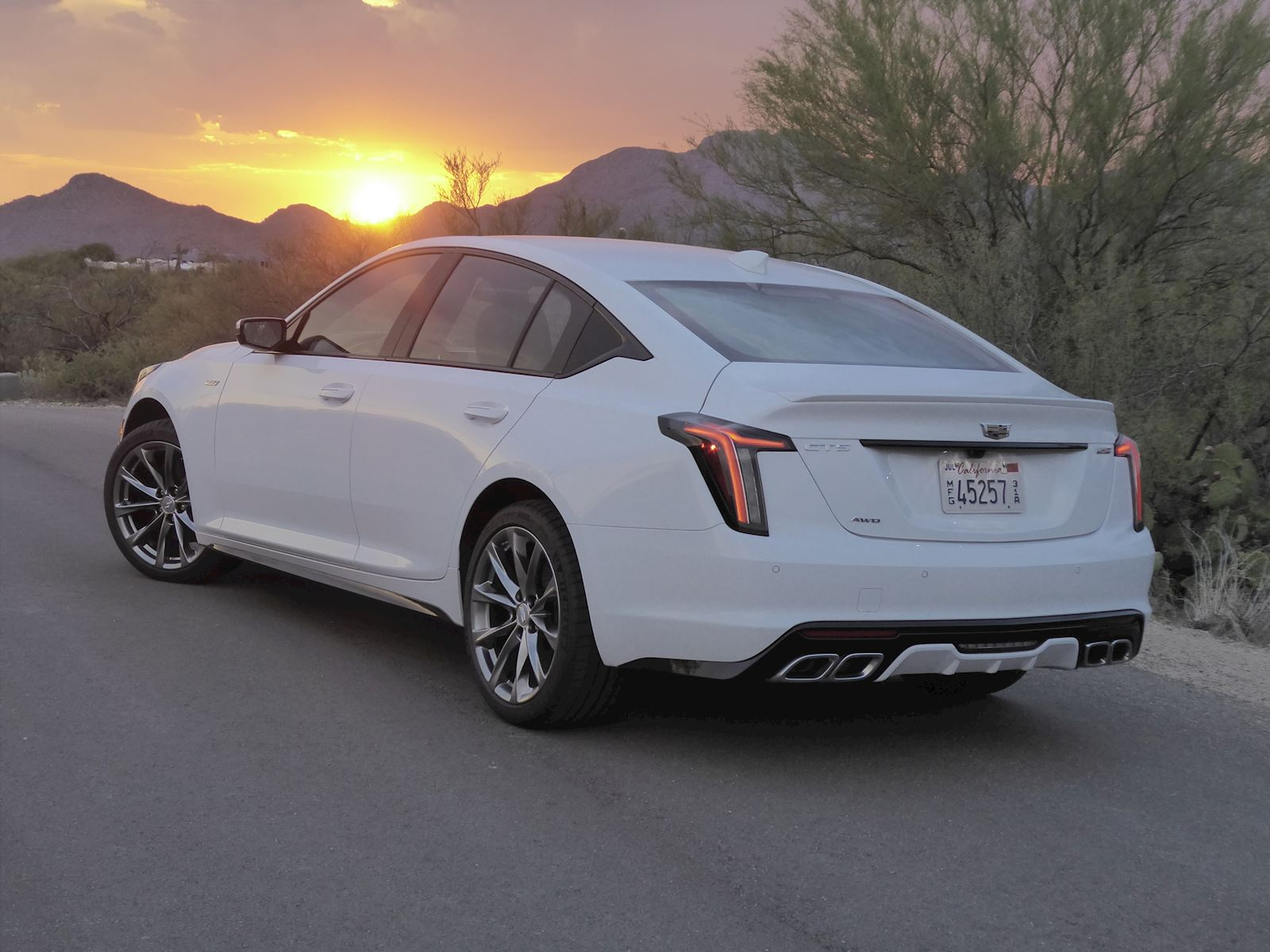 2020 Cadillac CT5 rear view