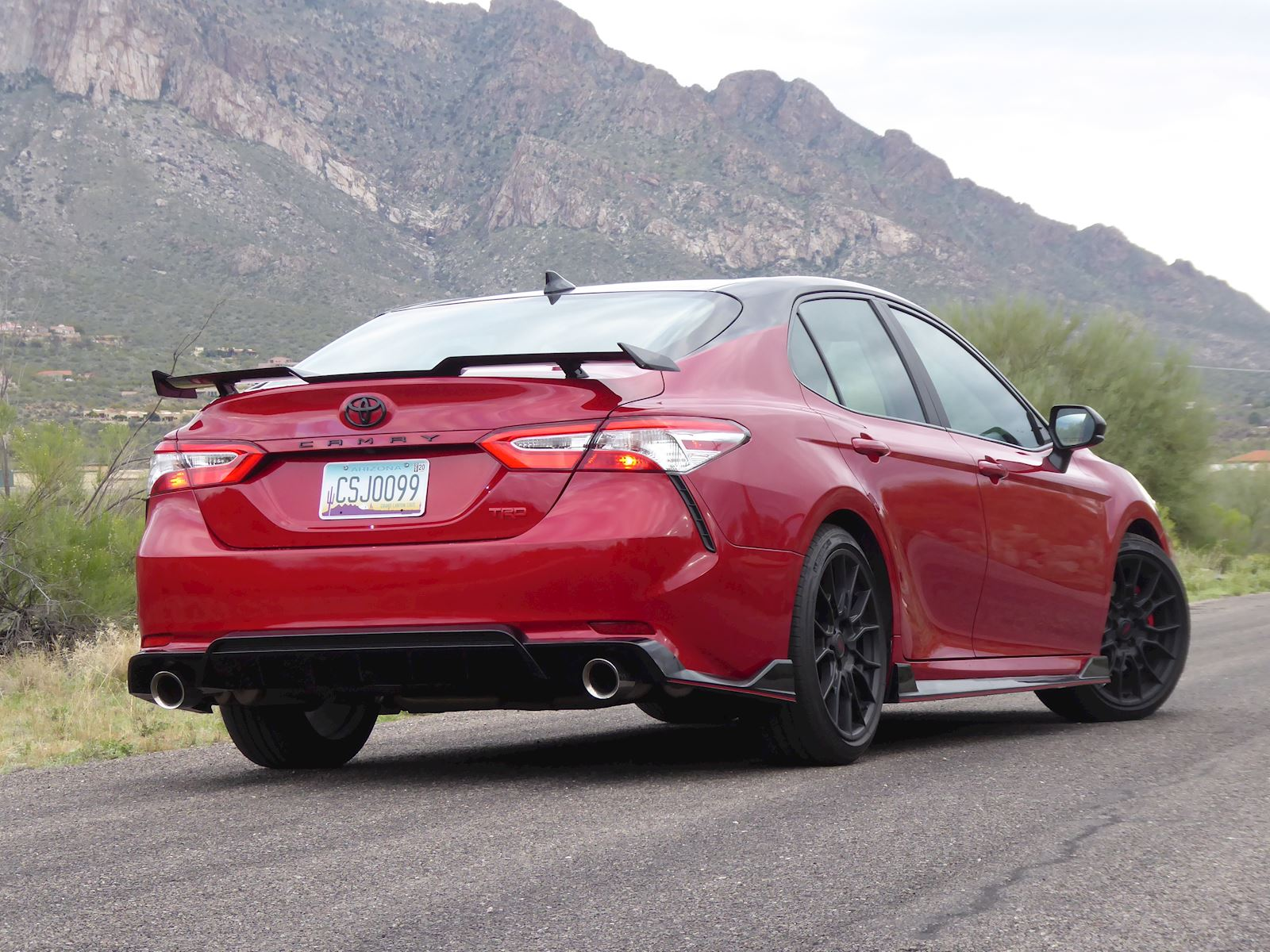 2020 Toyota Camry TRD rear view