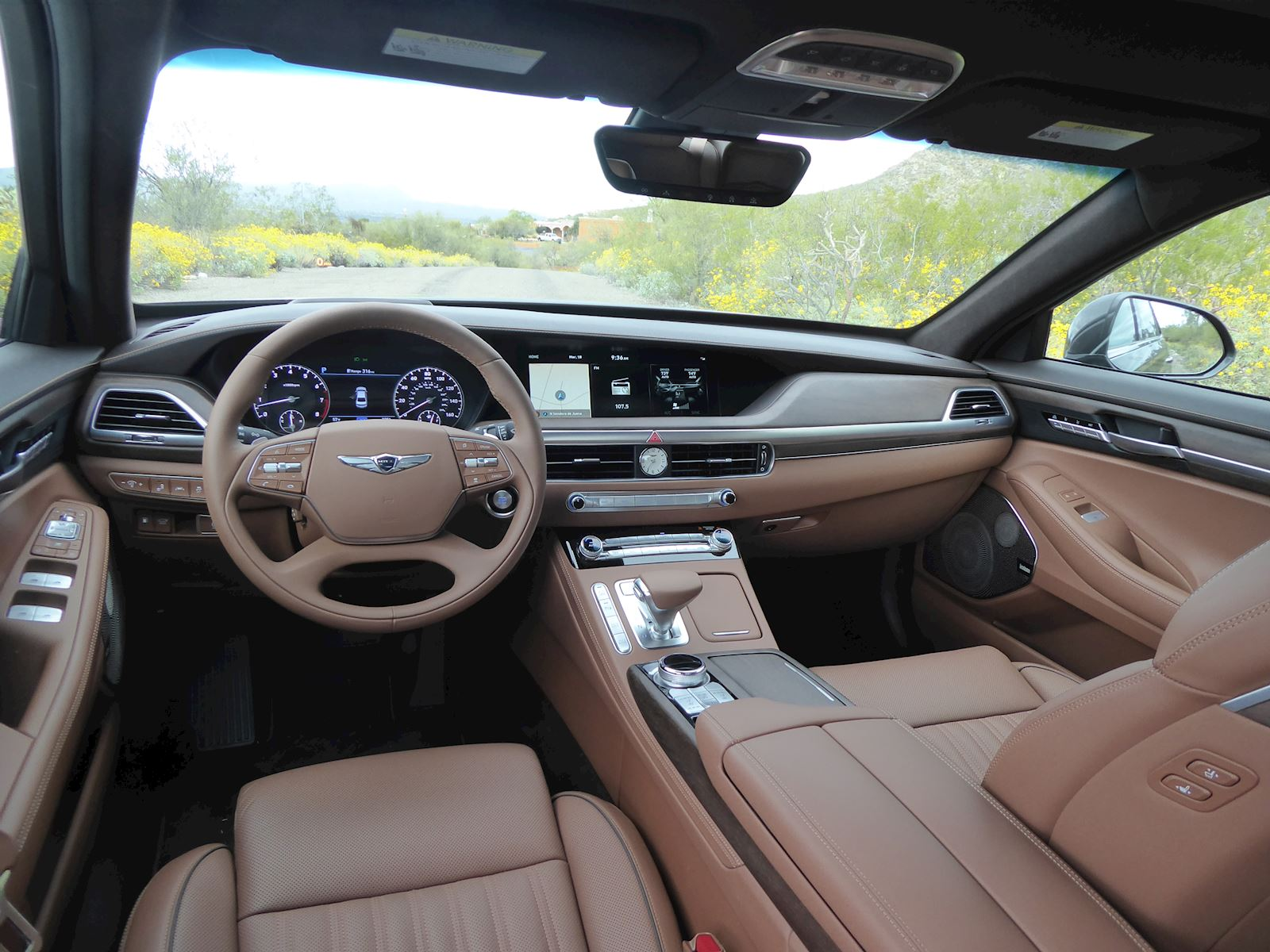 2020 Genesis G90 interior and dashboard view