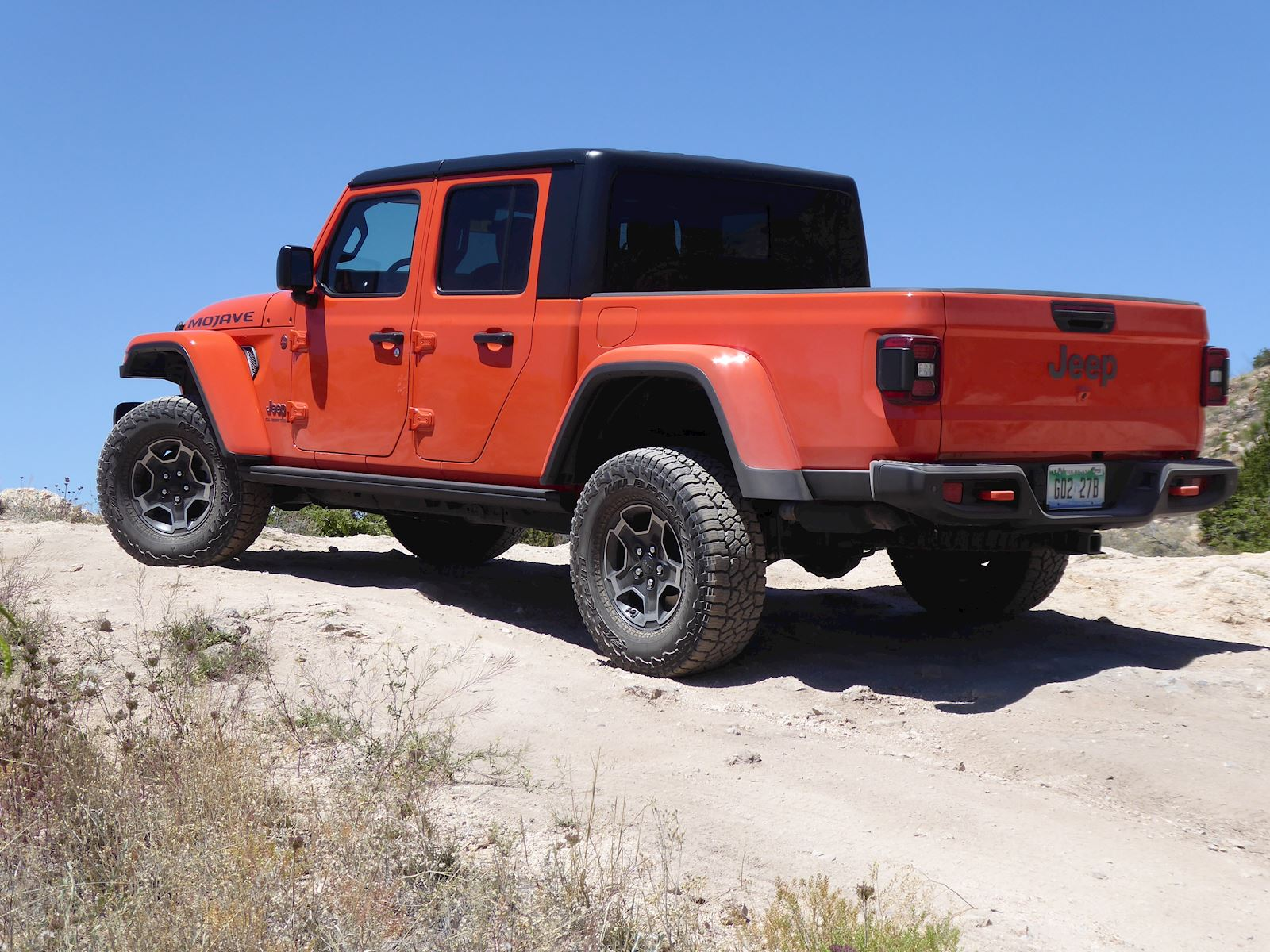 2020 Jeep Gladiator Mojave rear view