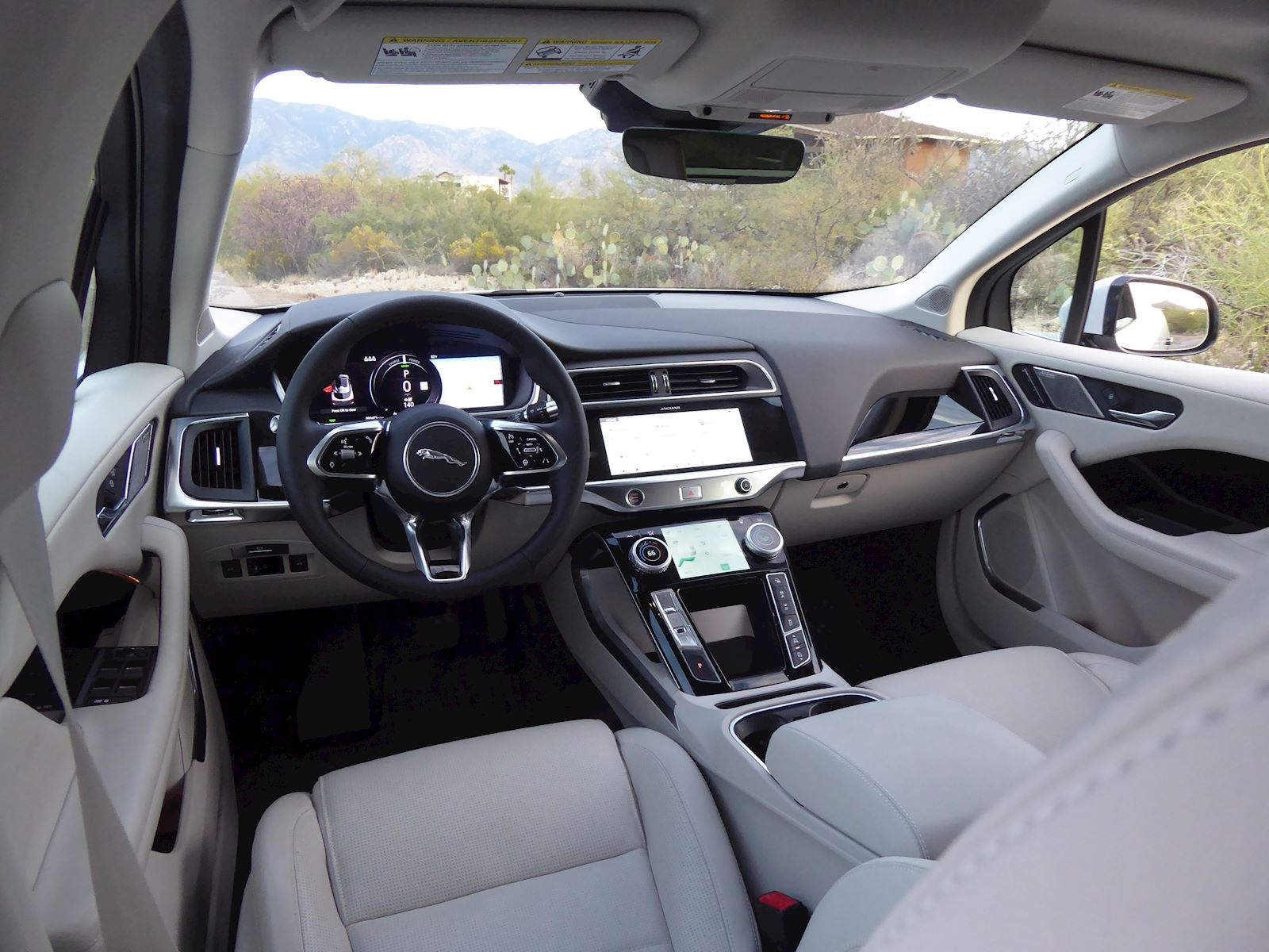 2020 Jaguar I-Pace dashboard and interior