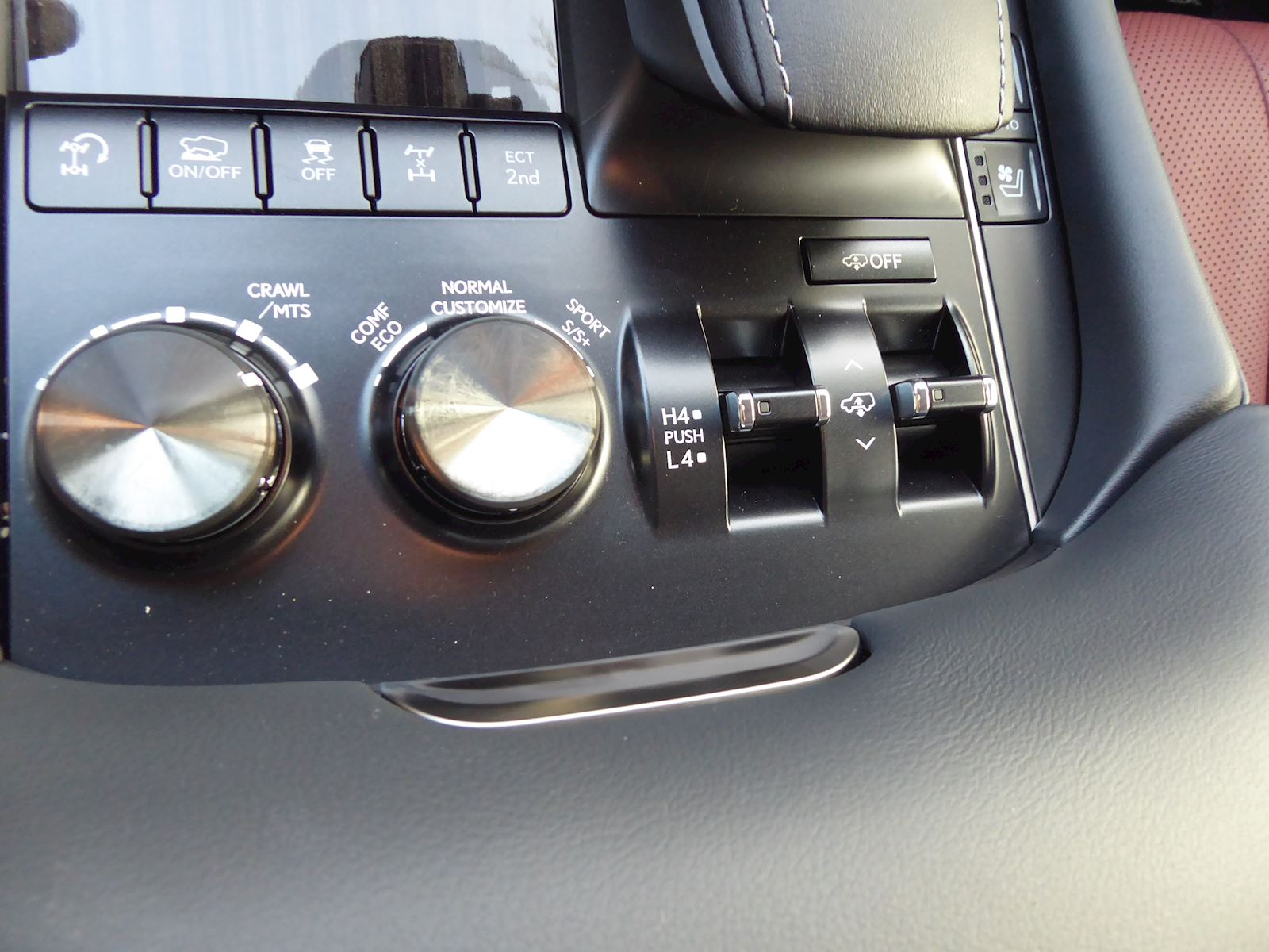 2020 Lexus LX 570 Drive Mode Controls