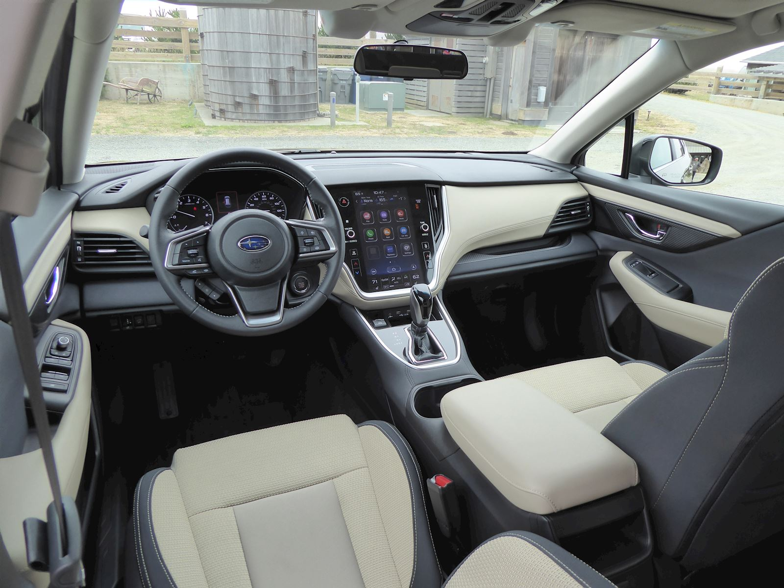 2020 Subaru Outback interior dashboard and front seats photo