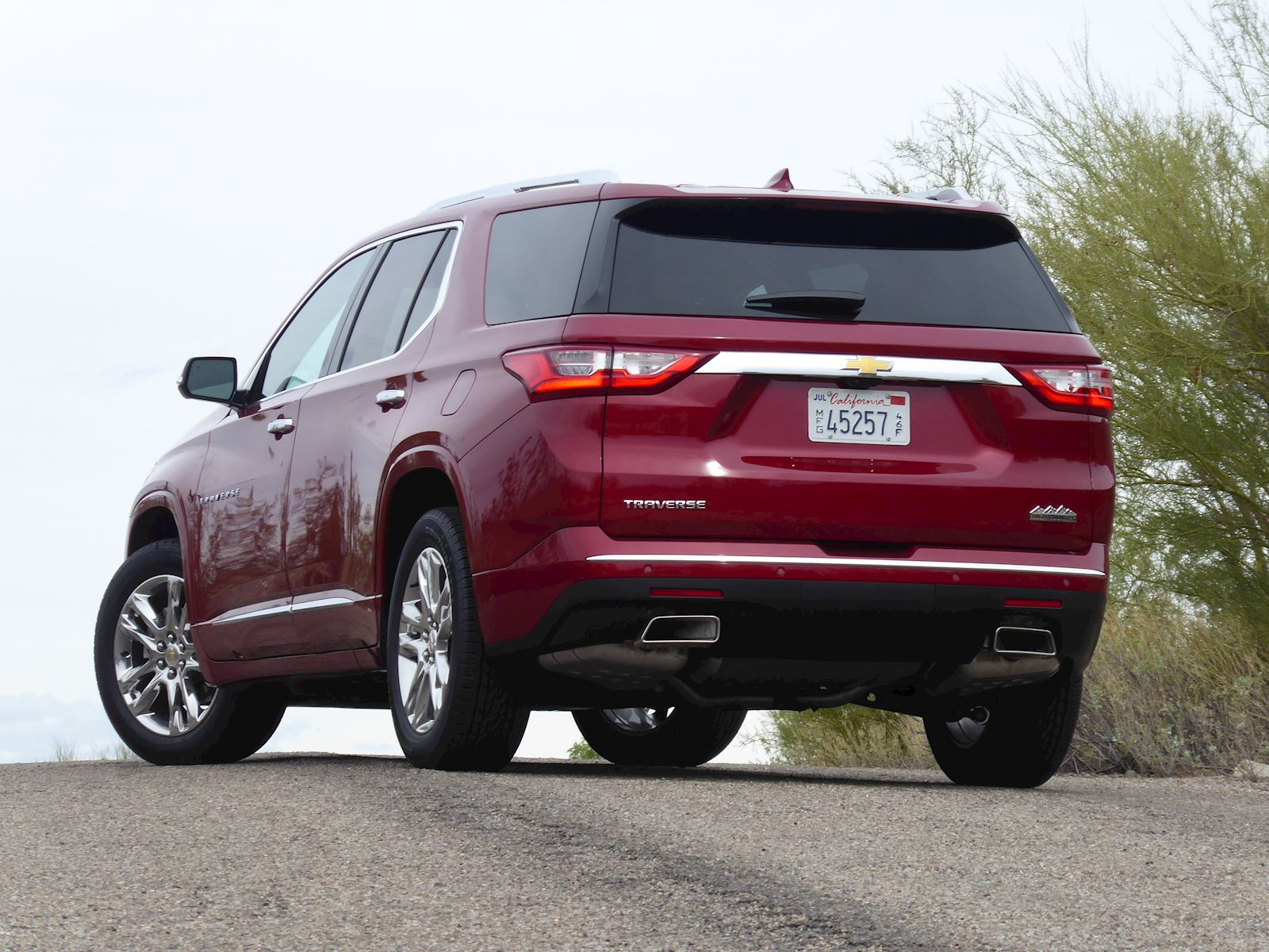 2020 Chevrolet Traverse rear view