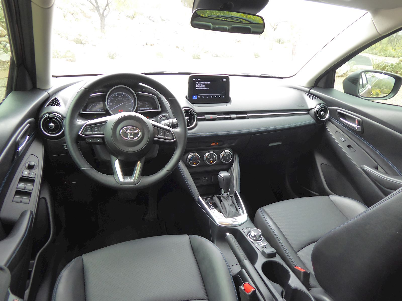 2020 Toyota Yaris interior dashboard view