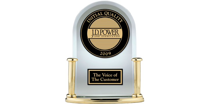 Jd Power Initial Quality Award >> 2009 Initial Quality Study Results J D Power