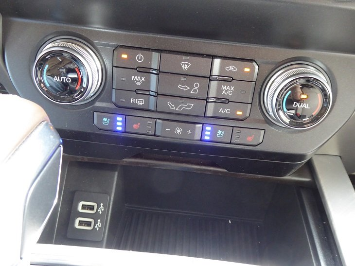 2019 Ford F-150 climate control system photo