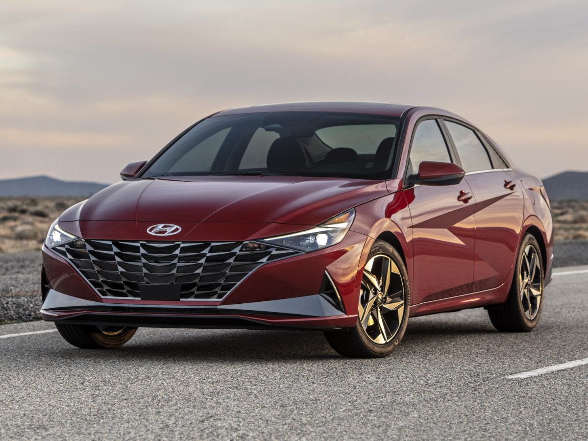 2021 Hyundai Elantra Limited Red Front View