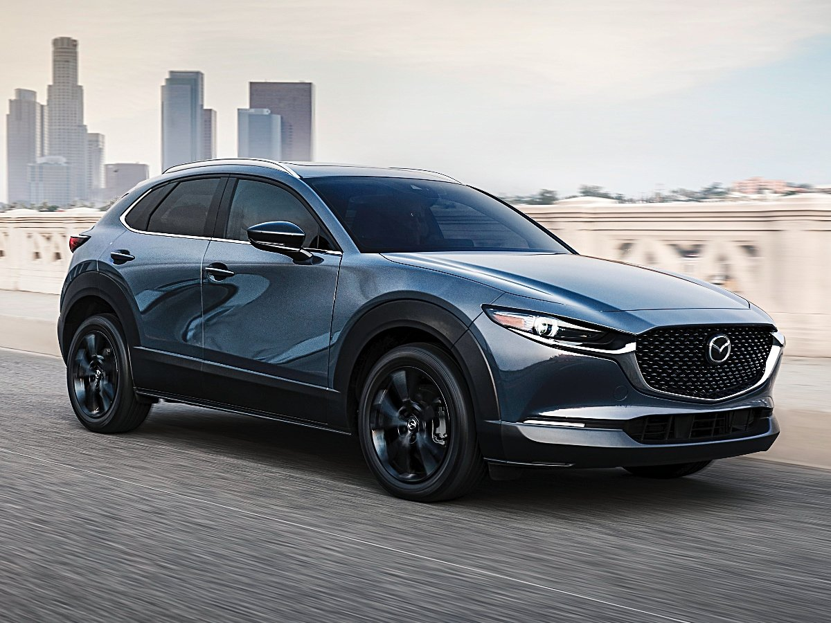 2021 Mazda CX-30 2.5 Turbo Machine Gray Front Quarter View