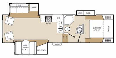 2013 Coachmen by Forest River Chaparral Lite Fifth Wheel Series M-280 RLS  Specs and Standard Equipment   NADAguidesNADAguides