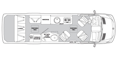 2013 Airstream Interstate Series M-3500 Extended Lounge Specs and