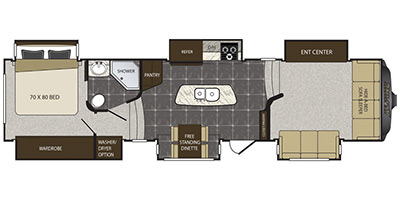 Floor Plan Identification Type Fifth Wheel