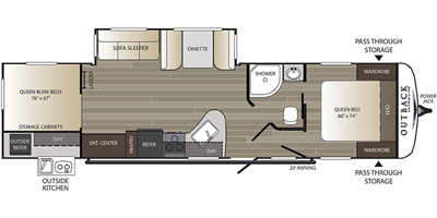 2019 Keystone Rv Outback Ultra Lite Series M 320 Ubh Specs And