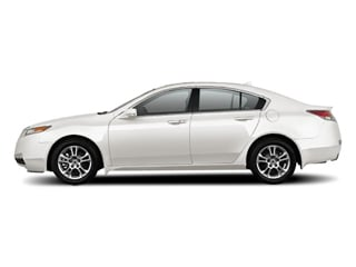 White Diamond Pearl 2010 Acura TL Pictures TL Sedan 4D Technology AWD photos side view
