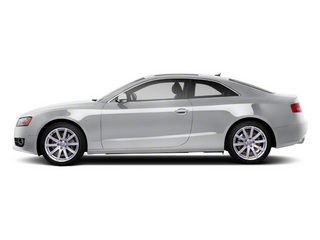 Ice Silver Metallic 2010 Audi A5 Pictures A5 Coupe 2D Quattro Prestige photos side view