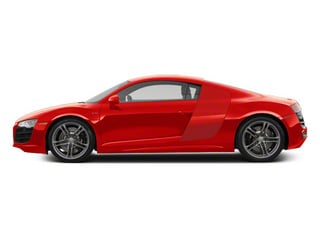 Brilliant Red With Brilliant Red Sideblades 2010 Audi R8 Pictures R8 2 Door Coupe Quattro 5.2l (manual) photos side view