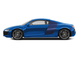 Sepang Blue Pearl With Mugello Blue Sideblades 2010 Audi R8 Pictures R8 2 Door Coupe Quattro 5.2l (manual) photos side view