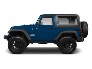 Deep Water Blue Pearl 2010 Jeep Wrangler Pictures Wrangler Utility 2D Sport 4WD photos side view