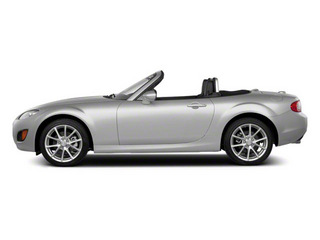 Liquid Silver Metallic 2010 Mazda MX-5 Miata Pictures MX-5 Miata Convertible 2D Sport photos side view