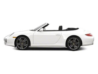 Carrara White 2010 Porsche 911 Pictures 911 Cabriolet 2D Turbo AWD photos side view