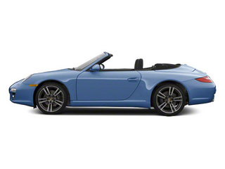 Aqua Blue Metallic 2010 Porsche 911 Pictures 911 Cabriolet 2D 4 AWD photos side view