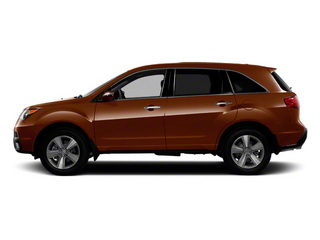 Ionized Bronze Metallic 2011 Acura MDX Pictures MDX Utility 4D Advance DVD AWD photos side view