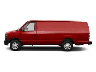 Vermillion Red 2011 Ford Econoline Wagon Pictures Econoline Wagon Super Duty Extended Wagon XLT photos side view