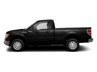 Black 2011 Ford F-150 Pictures F-150 Regular Cab XLT 2WD photos side view