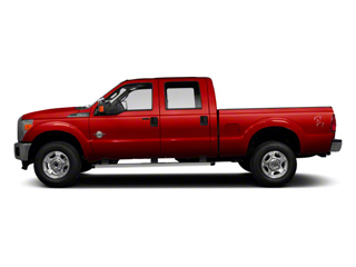 Vermillion Red 2011 Ford Super Duty F-350 DRW Pictures Super Duty F-350 DRW Crew Cab XL 2WD photos side view