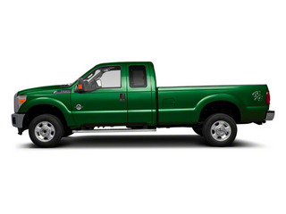 Forest Green Metallic 2011 Ford Super Duty F-350 DRW Pictures Super Duty F-350 DRW Supercab Lariat 4WD photos side view
