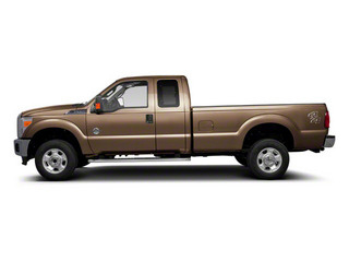 Pale Adobe Metallic 2011 Ford Super Duty F-350 DRW Pictures Super Duty F-350 DRW Supercab Lariat 4WD photos side view