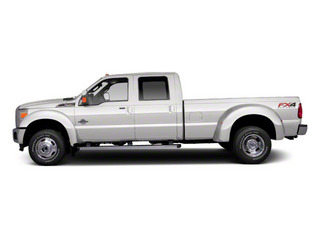 Oxford White 2011 Ford Super Duty F-450 DRW Pictures Super Duty F-450 DRW Crew Cab Lariat 4WD T-Diesel photos side view
