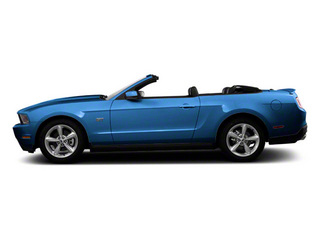 Grabber Blue 2011 Ford Mustang Pictures Mustang Convertible 2D GT photos side view