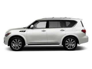 Moonlight White 2011 INFINITI QX56 Pictures QX56 Utility 4D 4WD photos side view