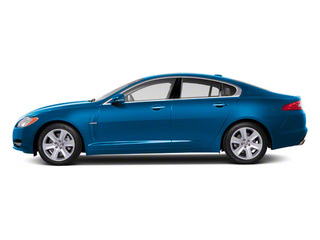 Crystal Blue 2011 Jaguar XF Pictures XF Sedan 4D photos side view