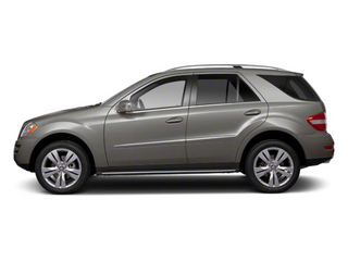 Palladium Silver Metallic 2011 Mercedes-Benz M-Class Pictures M-Class Utility 4D ML350 2WD photos side view