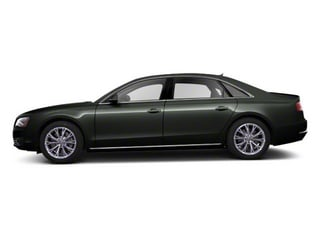 Emerald Black Metallic 2012 Audi A8 L Pictures A8 L Sedan 4D 4.2 Quattro L photos side view