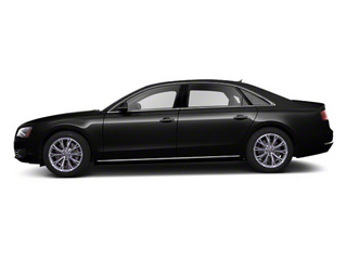 Phantom Black Pearl 2012 Audi A8 L Pictures A8 L Sedan 4D 4.2 Quattro L photos side view