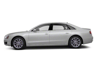 Ice Silver Metallic 2012 Audi A8 L Pictures A8 L Sedan 4D 4.2 Quattro L photos side view