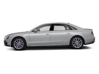 Quartz Gray Metallic 2012 Audi A8 L Pictures A8 L Sedan 4D 4.2 Quattro L photos side view