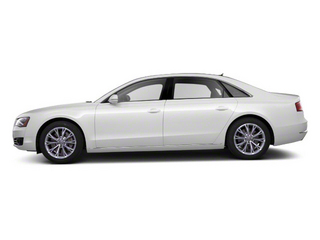 Ibis White 2012 Audi A8 L Pictures A8 L Sedan 4D 4.2 Quattro L photos side view