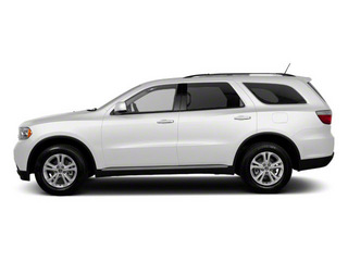 Stone White 2012 Dodge Durango Pictures Durango Utility 4D Crew AWD photos side view