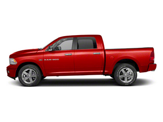 Flame Red 2012 Ram Truck 1500 Pictures 1500 Crew Cab Laramie 2WD photos side view