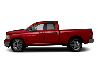 Deep Cherry Red Crystal Pearl 2012 Ram Truck 1500 Pictures 1500 Quad Cab Outdoorsman 4WD photos side view