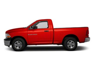 Flame Red 2012 Ram Truck 1500 Pictures 1500 Regular Cab ST 4WD photos side view