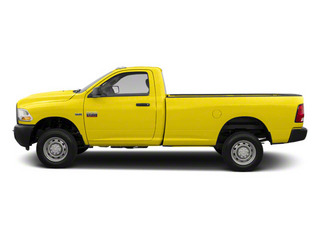 Yellow 2012 Ram Truck 2500 Pictures 2500 Regular Cab SLT 4WD photos side view