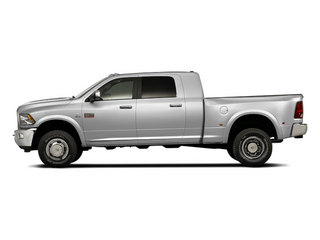Bright Silver Metallic 2012 Ram Truck 3500 Pictures 3500 Mega Cab Limited 4WD photos side view