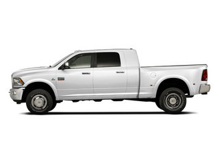 Bright White 2012 Ram Truck 3500 Pictures 3500 Mega Cab Limited 4WD photos side view