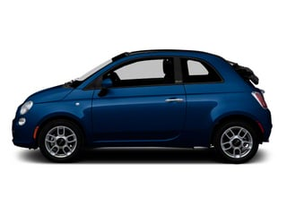 Azzurro (Blue) 2012 FIAT 500 Pictures 500 Convertible 2D Lounge photos side view